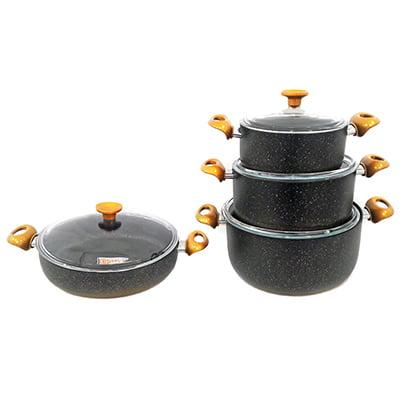 سرویس 8 پارچه لاوان مدل لاکچری مشکی