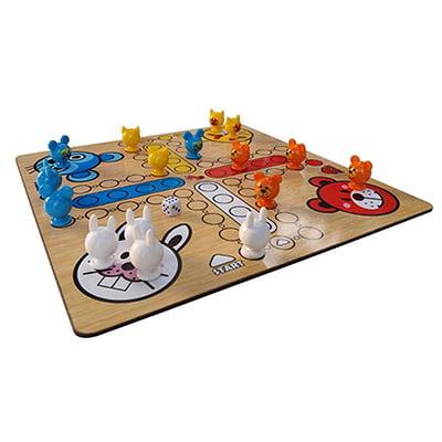 بازی فکری مدل منچ و مار و پله حیوانات مدل A-3036
