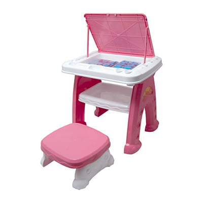 میز و صندلی تحریر کودک دخترانه آوا مدل AMT1213